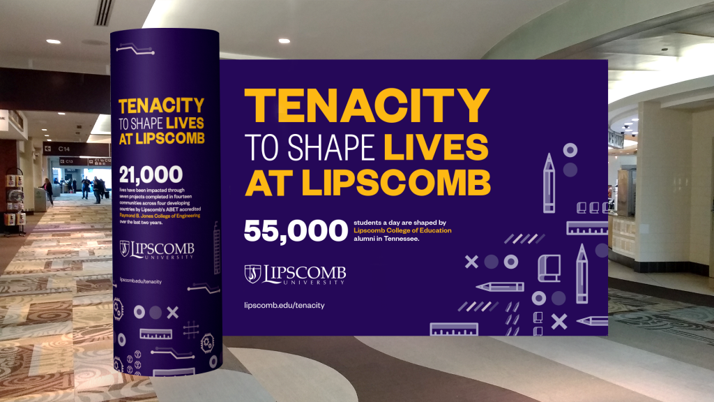 Mock-up of Lipscomb University's event display