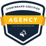 An badge for a Storybrand Certified Agency Valid Through November 2020