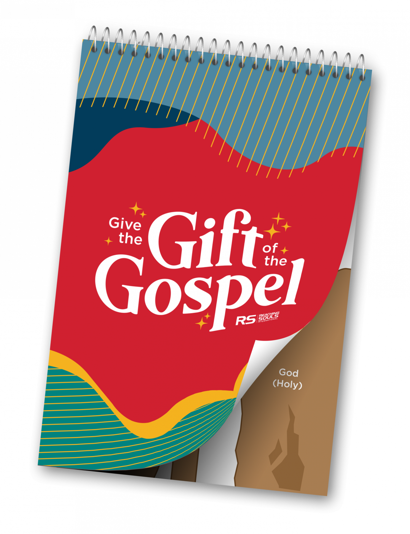 """A mockup of the """"Give the Gift of the Gospel"""" activity book"""