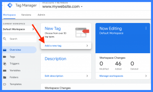 Google Tag Manager Screenshot